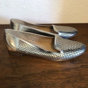 J.Crew Silver Cleo Loafer